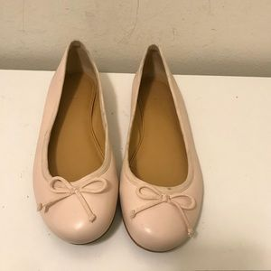 J Crew leather ballerina slippers size 8